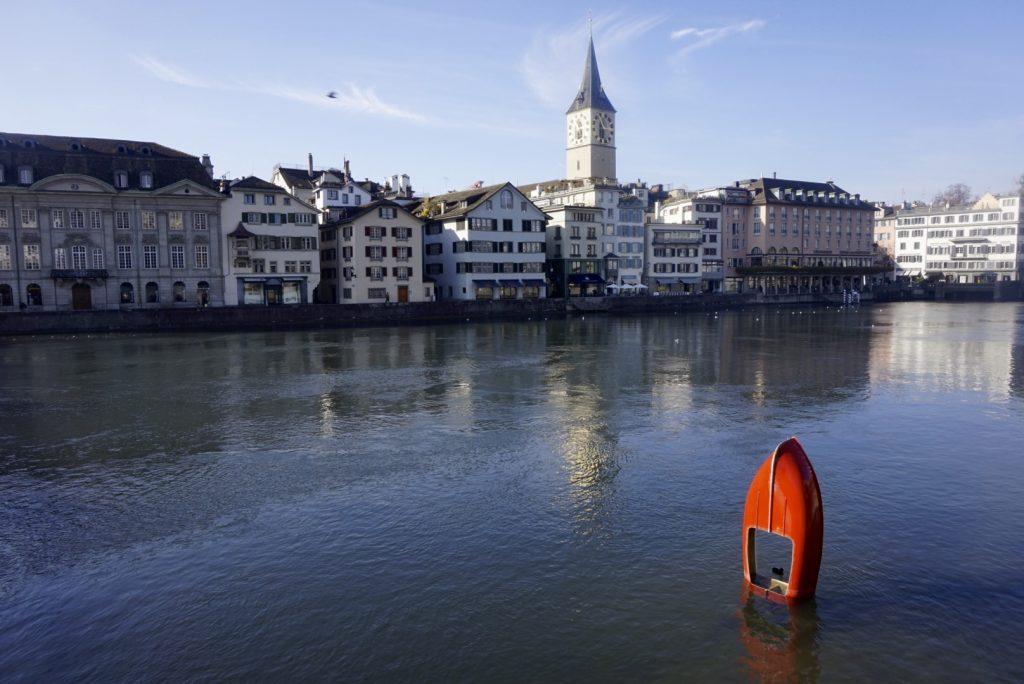 Grossmünster,Quaibrücke, Quay Bridge, Zurich, Zürich, Lake Zurich